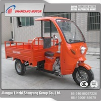 2017 Best price cargo tricycle with driver cabin 200cc truck cargo scooter tricycle motor trike with wagon
