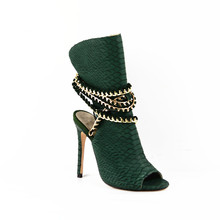 TINA 01 New Fashion Women Handmade Python Leather High Heel Sandals