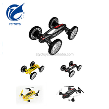 China 3D rotation 2 in 1 functional rc hobby toys drone outdoor flying car UAV quadcopter