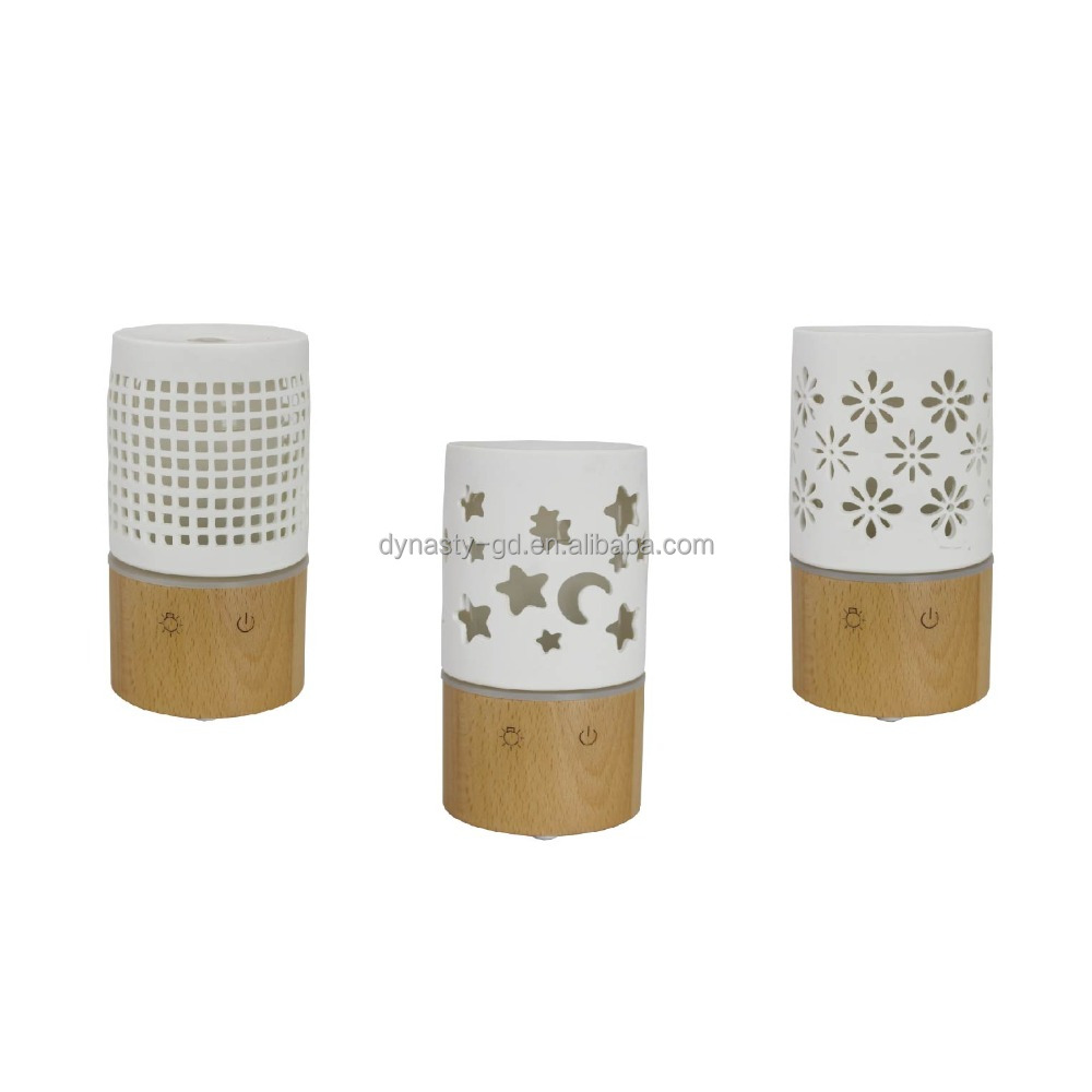CERAMIC AROMA DIFFUSER WITH BAMBOO BASE
