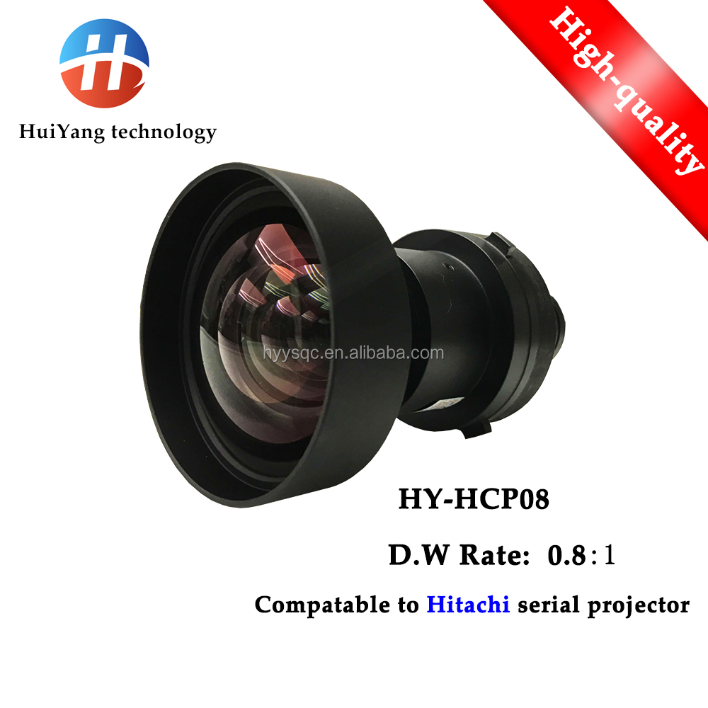 Factory direct sales HY-HCP08 (0.8:1) short throw replacement lens for HITACHI <strong>Projector</strong>