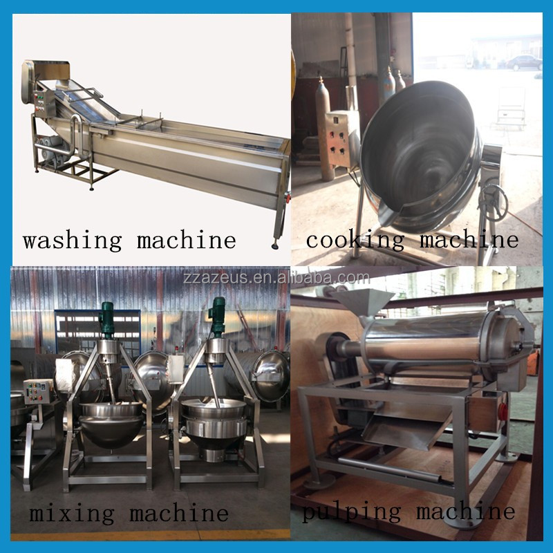small fruit jam production line/fruit jam making machine