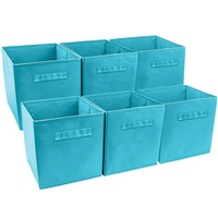 Fashion Pack of 3 Foldable Natural Non woven Storage Box, Convenient DIY Storage Box,Soft Storage Cubes,Small