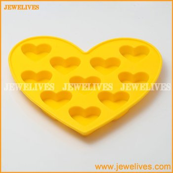 Heart shape silicone ice mold