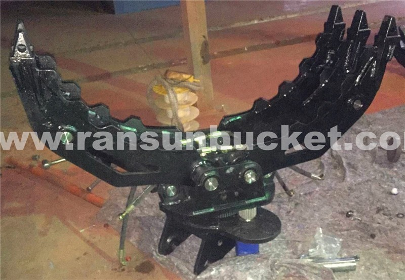 Manual and hydraulic five or seven fingers hydraulic rotator grapple for 1.t to 65t Excavator