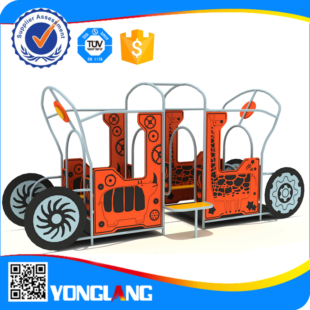 2016 Mobile kids playground with wheel mobilizable soft playground for sale