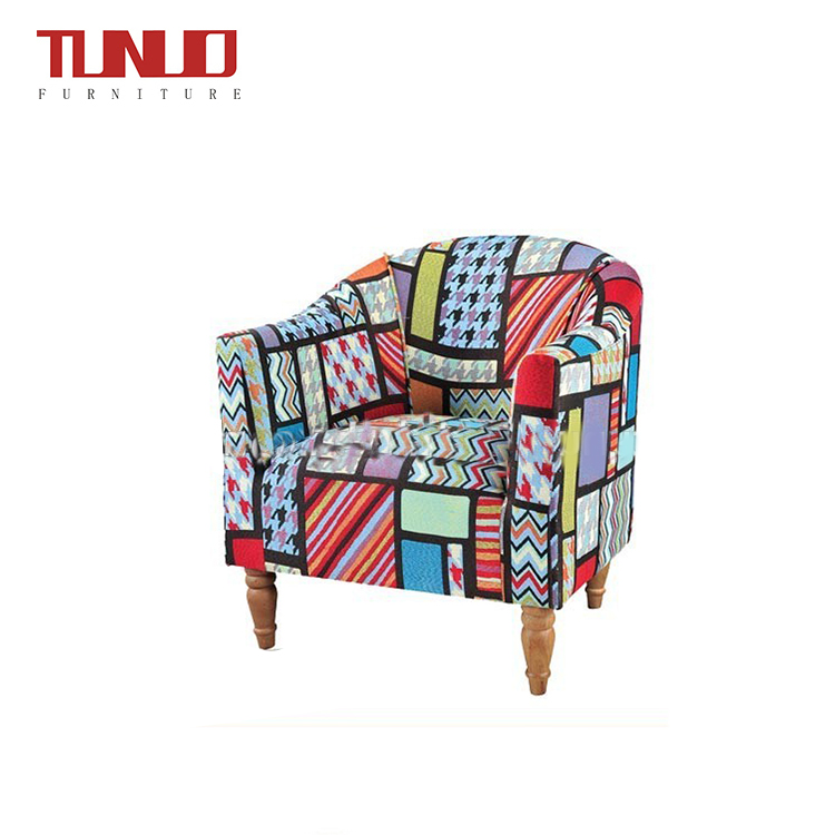 Modern Furniture Flower Fabric Modern Coffee Chair