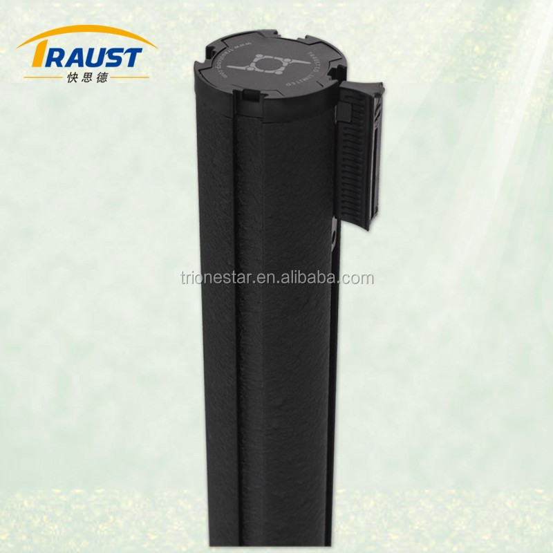 Aluminum Stanchions barriers for museum with 76mm Aluminum Tube
