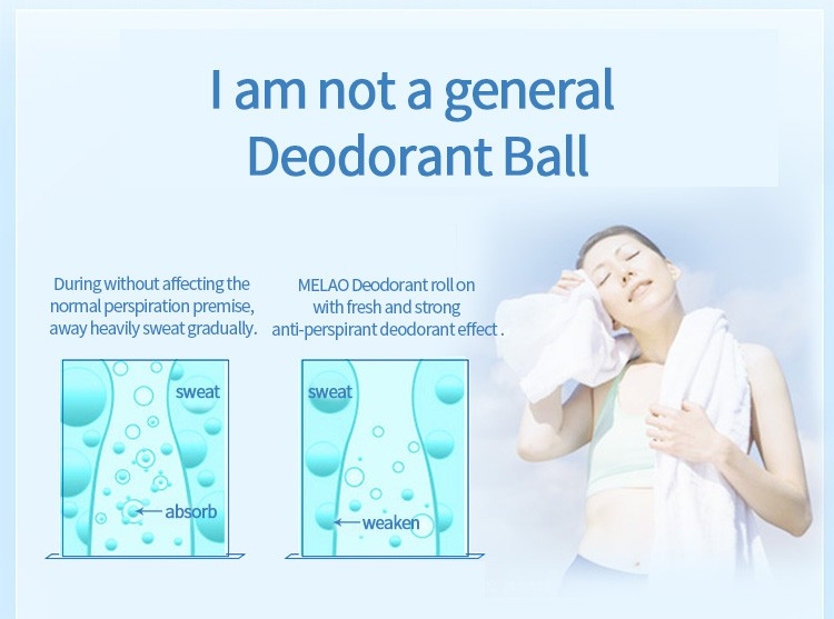 Msds deodorant antiperspirant underarm unscented roll on cream white deodorant roll on for women and men brand 50ml 70ml 90ml 10