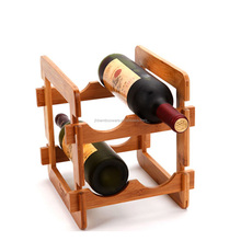 custom bamboo decorative wine racks and bottle holders for home decor storage