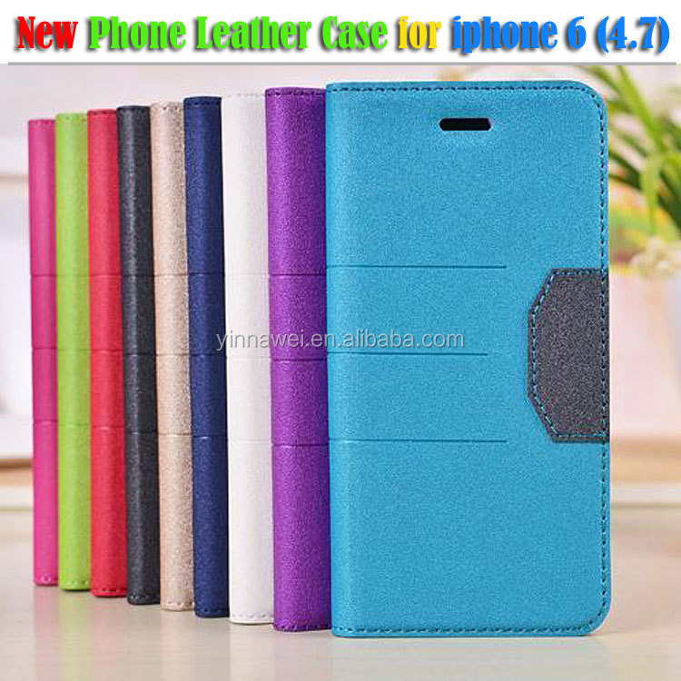 Bling Ultra slim holster wallet stand flip PU leather pouch case for iphone6 4.7