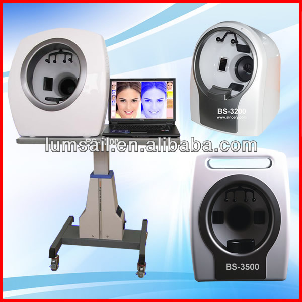 Multi Function uv light facial skin analysis machine for Skin Sensitiveness And Age Test