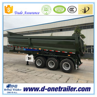 D-ONE BRAND TRI-AXLE 20-50T PAYLOAD U SHAPE END TIPPER FOR SEMI TRAILER TRUCK