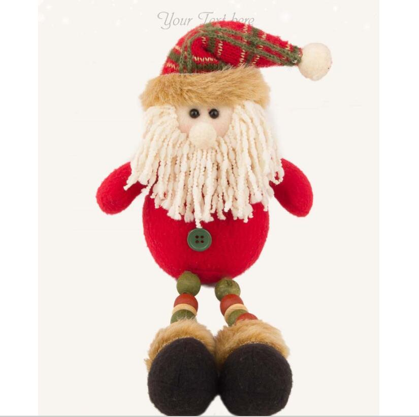 2017 Christmas plush santa claus stuffed christmas decoration toy