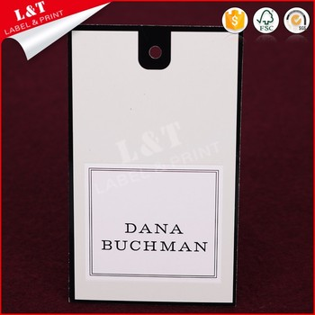 Unique Design Coated Paper Clothing Labels And Hang Tags