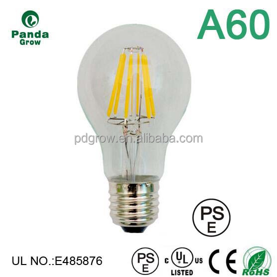 UL approval 120V dimmable color temp 3000k soft white filament led e 14 candle 6 w