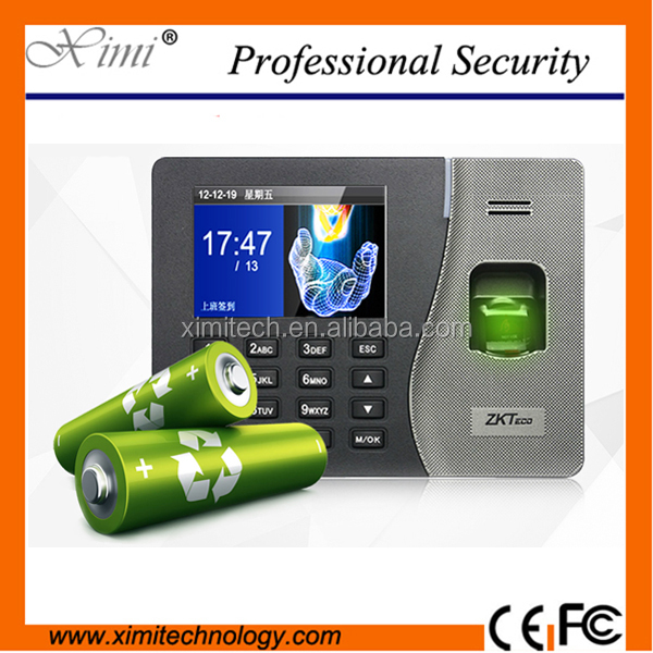 Cheap Price Zkteco k14 Back Up Battery Time Recorder Biometric Fingerprint Time Attendance