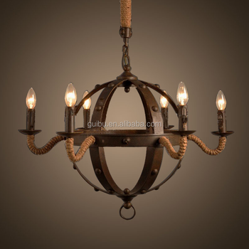 Countryside Chic Wrought Iron Chandelier Wholesale