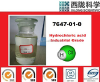 Industrial chemical hydrochloric acid price, HCL price, cas 7647-01-0