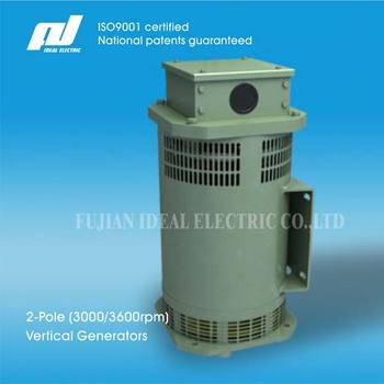 2-Pole 30kW (3000/3600rpm) High-Speed Vertical-Mounting Brushless Generators