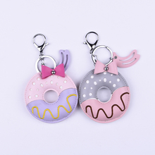 Wholesale hot sale keyring doughnut key chains for young girls
