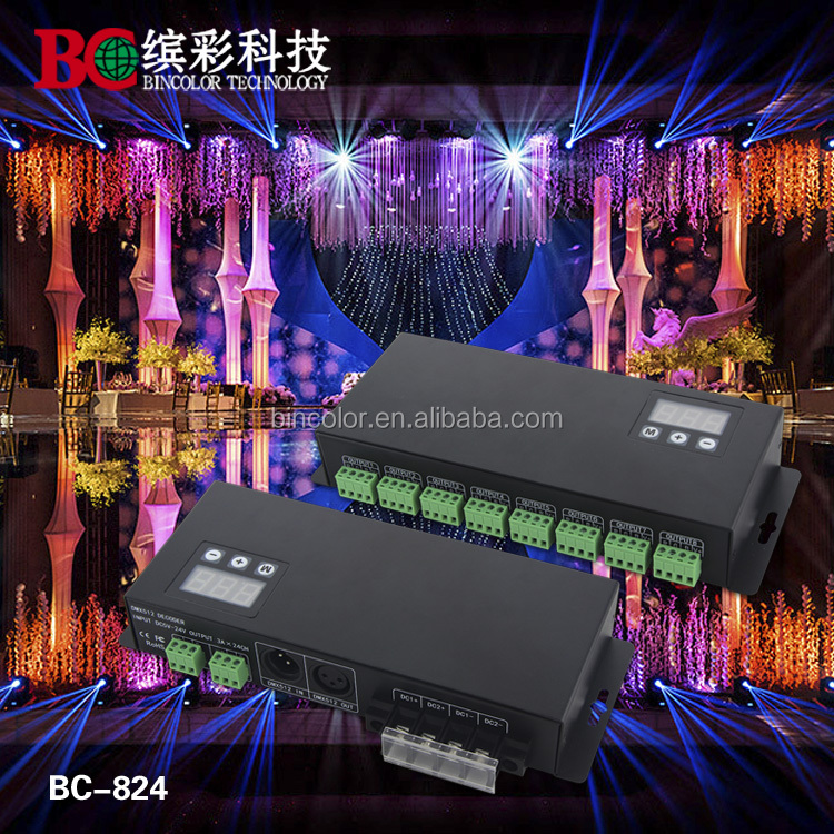 24 Channels LED DMX Driver Decoder LED Controller RGB Driver