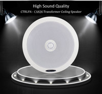 CTRLPA CA826 6.5 inch 20W public address system pa coaxial ceiling speaker for indoor