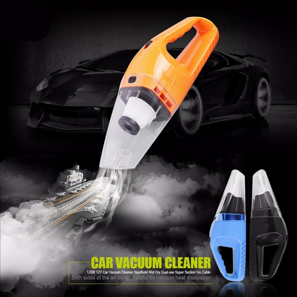 Vacuum <strong>Cleaner</strong> 12V 120W 5M Suction Mini Portable Vehicle Car Handheld High-Power Dirt Wet and Dry 2017 Hot Sale With Retail Pack