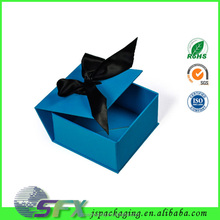popular portable luxury Collapsible custom gift folding square paper box with magnet closure