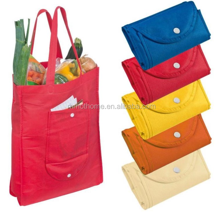 Customized recyclable handled typle shopping bag non woven folding tote bag