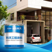 Green Eco-friendly Non-toxic Interior WallPaint for Garage House Airless Spray Emulsion Waterbased Silicone Modified Coating
