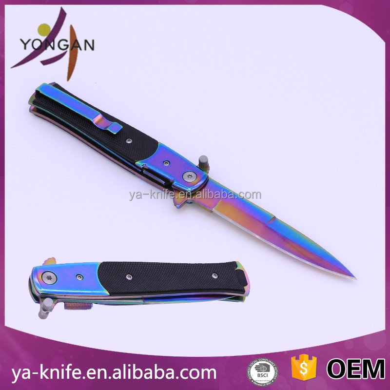 "YA-G03L 8.5"" best pocket knife knifes folding knife with aluminium handle"