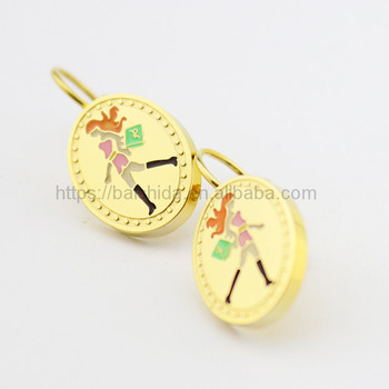 italian costume jewelry oval shape shopping lady image hoop earring for anniversary party wedding