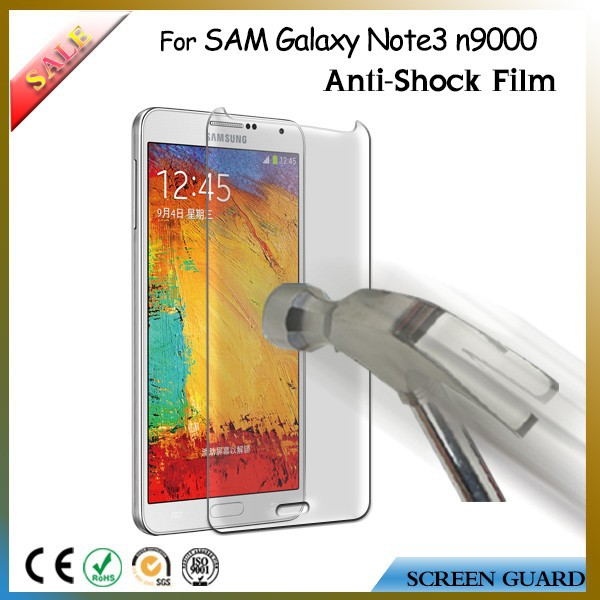 Mobile phone accessories Anti shock screen protector for samsung galaxy note 3 screen protector