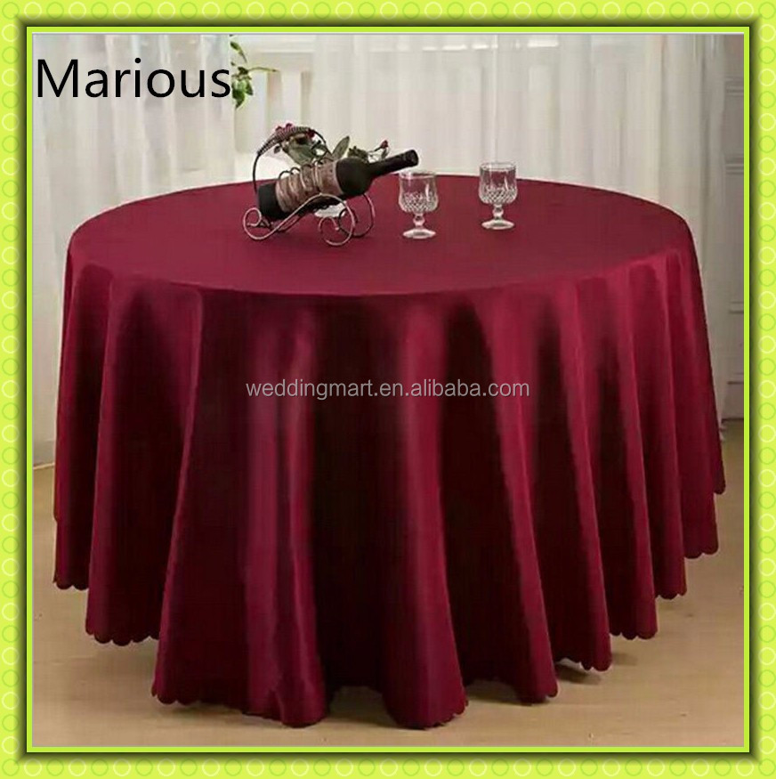 "Cheap round table cloth, Marious polyester round tablecloth( dia-132"", 120"", 90"", 78"", 70""), iron-free, seamless"