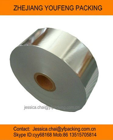supply bright silver aluminum foil for cigarette packing/& tipping paper