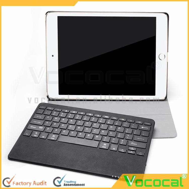 Ultra-thin PU Leather Bluetooth Keyboard Touchpad Portfolio Stand Case Cover for Apple iPad Pro 12.9 inch Tablets Voltage Proces