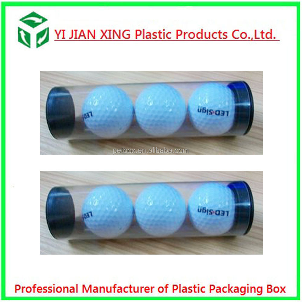 Custom Plastic Clear Cylinder Round Tube Box For Golf Ball Packaging