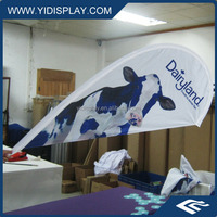 Promotional plastic tube mini golf flag