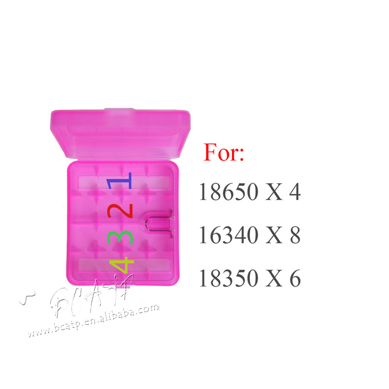 Convenient & Beautiful Clear plastic case Rechargeable 26650 18650 18500 18350/ AA AAA Batteries storage box