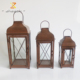 Hot selling windproof vintage design candle holder cheap metal table lanterns