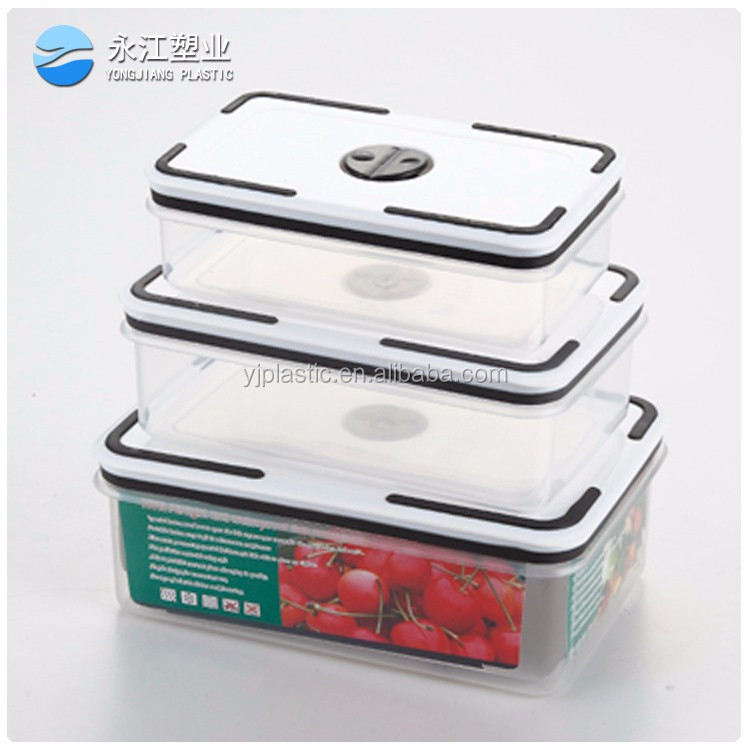 wholesale plastic food containers with lids cheap long-term rice storage sealed container