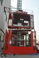 6.4 ton Double Cage Energy Saving Rack & Pinion Lifting Equipment Construction Elevator