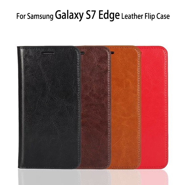 Factory Cell Phone Covers For Samsung Galaxy S7 Edge Case Leather