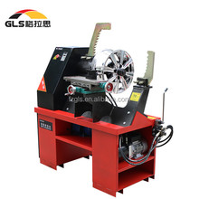 Supplier motorcycle electric hydraulic alloy wheel rim repair machine with lathe