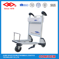 high strength aluminum alloy luggage trolley airport
