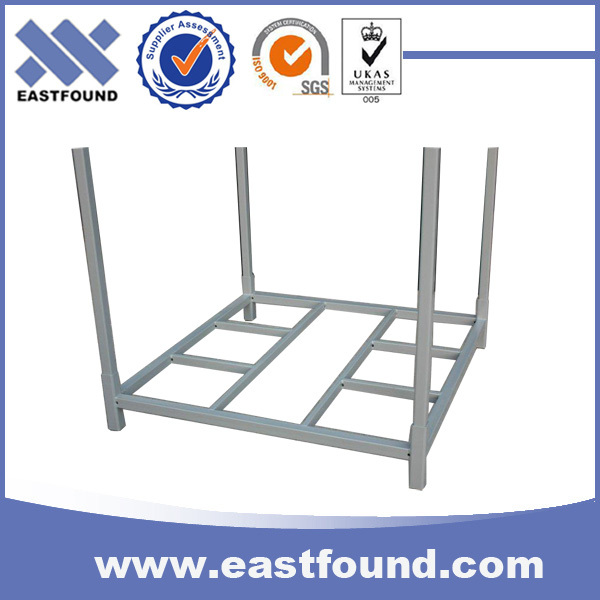 Warehouse storage portable and foldable post pallet stacking racks and stillage