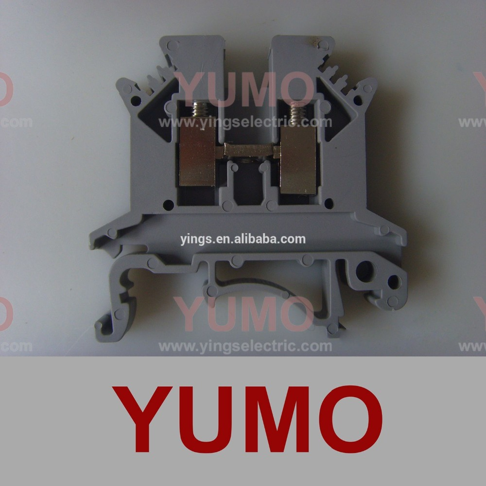 UK 2.5B YUMO 2.5mm2 400V 24A Din Rail Terminal Block UK 2.5b Terminal Block