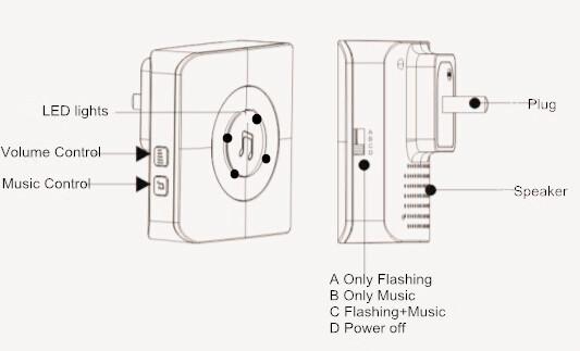 vibration alert wireless door bell with 200 meters