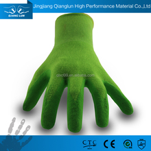 SAFETY Nitrile palm coated anti slip bamboo gloves for garden work